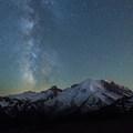 Mount Rainier (14,411 ft) from Sunrise Point.- Mount Rainier National Park