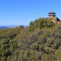 The Fire Lookout Tower on East Peak (2,571') in Mount Tamalpais State Park.- Mount Tamalpais State Park