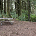 Typical walk-in campsite.- Carl G. Washburne Memorial State Park Campground