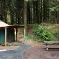 Typical yurt campsite.- Carl G. Washburne Memorial State Park Campground