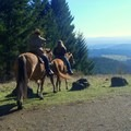 Equestrians enjoy the views on a sunny day at Dimple Hill.- Dimple Hill