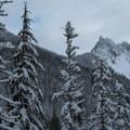 Devils Peak (5,456') lies to the east.- Kelcema Lake