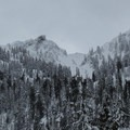 Closer view of the nearby peaks.- Kelcema Lake