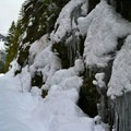 Ice and snow in Lake Easton State Park.- Lake Easton State Park Cross-Country Skiing