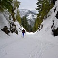 The return point.- Lake Easton State Park Cross-Country Skiing