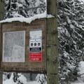 Frog Lake Trailhead signage.- Frog Lake