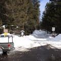 Blewett Pass Sno-Park on the north side of Highway 97.- Wenatchee Ridge Trail