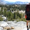 Great views along Fletcher Creek.- Tuolumne Meadows to Yosemite Valley via Vogelsang Camp