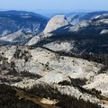 Yosemite Valley lies beyond Half Dome.- Vogelsang Peak