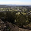 Nice views from the rock ridge at the top of the switchbacks.- Blue Rock Springs Park