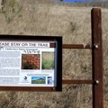 Information at the trailhead.- Blue Rock Springs Park
