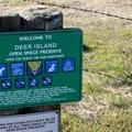 The trailhead at Deer Island Open Space Preserve.- Deer Island Open Space Preserve