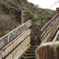 Staircase to Gray Whale Beach.- Gray Whale Cove State Beach