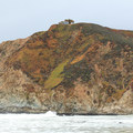 The view to the north of a WWII triangulation station.- Gray Whale Cove State Beach