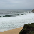 View from the cliffs above Gray Whale Cove.- Gray Whale Cove State Beach