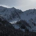 Jim Hill Mountain (6,765') and the head of the Lanham Creek valley.- Lanham Lake