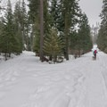 Restrooms at the sno-park remain open through the winter.- Eightmile Lake