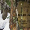 Entering the Alpine Lakes Wilderness.- Talapus Lake Snowshoe