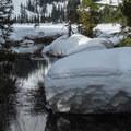 Talapus Creek headwaters.- Talapus Lake Snowshoe