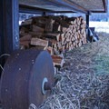 Plenty of wood is provided for guests and is stacked conveniently below the huts.- The Rolling Huts