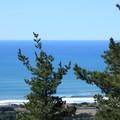 Sharp Park Beach seen from Mori Ridge Trail.- Mori Ridge Trail