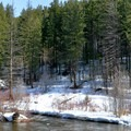 The sound of the Icicle River accompanies you on the trails.- Icicle River Trails