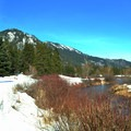 Wenatchee River and Cascade Mountains from the Golf Course Trails.- Leavenworth Golf Course Trails