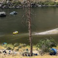 A great camp in Hells Canyon.- Snake River