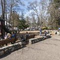 The playground in Lithia Park.- Lithia Park