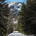 Money Creek valley wall.- Lake Elizabeth Snowshoe