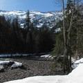 Goat Basin with Lennox Mountain (5,894').- Lake Elizabeth Snowshoe