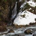 Unnamed waterfall flowing into Money Creek.- Lake Elizabeth Snowshoe
