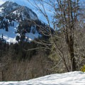 Unnamed mountain to the south.- Lake Elizabeth Snowshoe