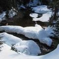Money Creek headwaters.- Lake Elizabeth Snowshoe