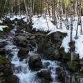 One of many unnamed creeks.- Lake Elizabeth Snowshoe