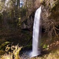 100-foot Shellburg Falls.- Shellburg Falls Loop Hike