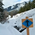 The first half of Twin Lakes snowshoe is well marked.- Twin Lakes