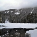 Twin Lakes in the winter.- Twin Lakes