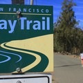 The Napa River Bay Trailhead.- Napa River Bay Trail + Glass Beach