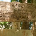 The trail sign at a junction with Loowit Trail.- June Lake
