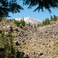 Worm flows on south side of Mount St. Helens (8,365').- June Lake