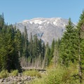 View of Mount St. Helens (8,365').- June Lake