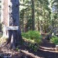 The trailhead to Cultus Lake and Lemei Rock.- Cultus Creek to Lemei Rock