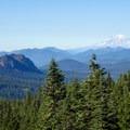 Goat Rocks and Mount Rainier (14,411').- Cultus Creek to Lemei Rock