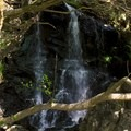 The waterfall at the end of the ravine ascent.- Steep Ravine Climb