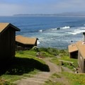 Once you arrive at the cabins, follow the pathway on the right down to the beach.- Steep Ravine Climb