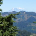 Viewpoint with Mount Adams (12,281') in the distance.- Lost Lake Butte