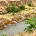 A view of the Klickitat River near the Lyle Trailhead.- Klickitat Trail, Lyle Trailhead