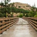 Fisher Hill pedestrian bridge on the Klickitat Trail.- Klickitat Trail, Lyle Trailhead