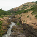 A view of the Klickitat River from the pedestrian bridge.- Klickitat Trail, Lyle Trailhead